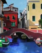 tableau architecture italie venise pont rouge : Venise Le pont
