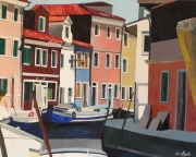 tableau architecture italie burano bateaux venise : Burano 5