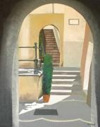 tableau architecture italie amalfitaine soleil ruelle : Atrani