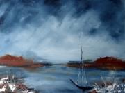 tableau marine marine paysage peintre canadien spatule : Azur