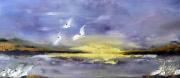 """tableau paysages peintre huile spatule canada : L'envol """"2021"""""""