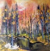 tableau paysages paysage peintre canadien spatule huile : Sans-titre 3