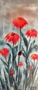 """tableau fleurs huile spatule fleurs peintre quebecquoise : Passiflora """"2020"""""""