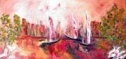 tableau marine marine impressionnisme peintre canadien huile : Fin de saison