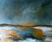 tableau paysages paysage peintre canadien huile spatule : Airs bucoliques