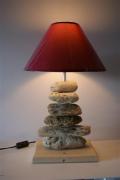 bois marqueterie lampe bois flotte : Lampe 3 Bois Flotté