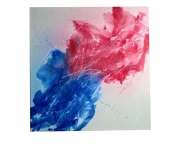 painting abstrait drapeau france francais guerre : tricolore