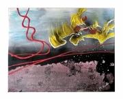tableau abstrait contemporain soulevement textures societe : Soulèvement