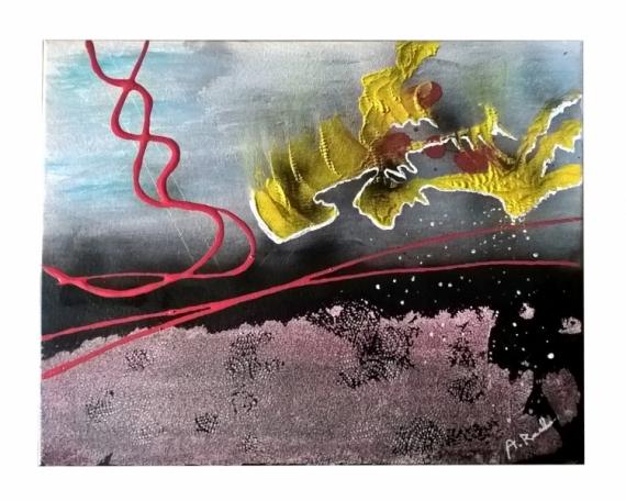 PAINTING contemporain soulèvement textures société Abstrait Acrylique  - Soulèvement