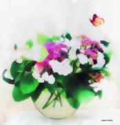 photo nature morte vase papillon fleur hortensia : Hortensia