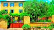 photo paysages maison provence fontaine de vocluse paysage : Les couleurs de la sérénité