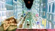 photo abstrait centre ville marseille embouteillage voitures : juste un Rêve...