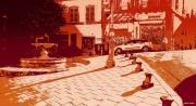 photo villes marseille fontaine place architecture : La Place