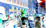 photo abstrait manifestation marseille centre ville personnes : manif2