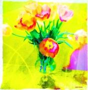 photo fleurs tulipes vase fleurs bouquet : Tulipes en Choeur!