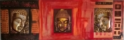 tableau abstrait boudha or zen : Zénitude