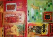 tableau abstrait afriquerougezebre : Africa