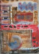 tableau abstrait endui spirale vague relief : Attrape Rêves