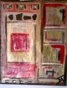 tableau abstrait ja solitude vert abstrait : Solitude