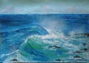 tableau marine vague mer agitee rouleau mer dechainee : La mer