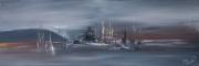 tableau abstrait : Cote D'Azur En Janvier