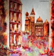 tableau villes architecture nantes couleurs loire atlantique : Mystique ....