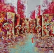 tableau villes couleurs architecture nantes tableaux : Secrète ....