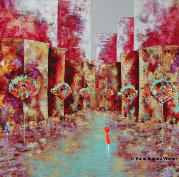 PAINTING couleurs architecture nantes tableaux Villes Peinture a l'huile  - Secrète ....