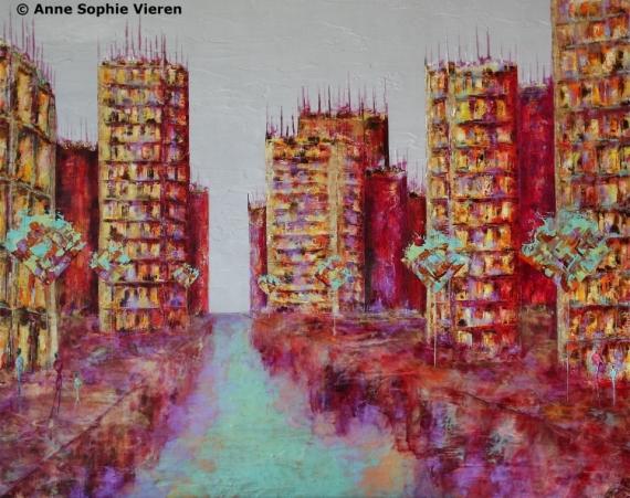 TABLEAU PEINTURE couleurs architecture tableaux nantes Villes Peinture a l'huile  - Renaissance ...