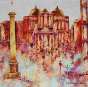 tableau villes couleurs architecture tableaux nantes : Dogme ...