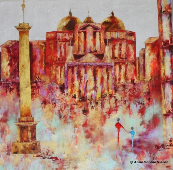TABLEAU PEINTURE couleurs architecture tableaux nantes Villes Peinture a l'huile  - Dogme ...