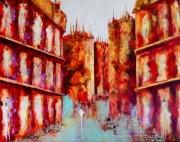 tableau villes couleurs nantes architecture loire atlantique : Avenir ...