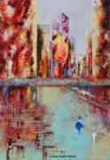 tableau villes architecture couleurs nantes tableaux : Agitation ...