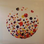 tableau abstrait petillant champagne effervescence couleurs : Effervescence