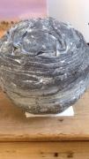 sculpture powertex sphere gris : Sphère