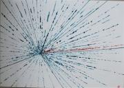 tableau abstrait explosion eclair flash meteorite : Météorite