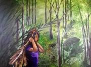 tableau paysages foret perou enfant amazonie : Mayuni