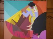 tableau personnages corrida torero taureau arenes : TORERO