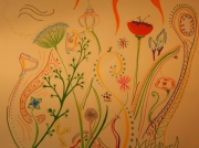 tableau fleurs posca colore fleurs nature : Beautiful