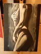 tableau nus nu noir et blanc nue femme : Nue