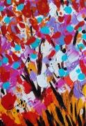 tableau fleurs fleurs abstrait celine marcoz tableau : Fleurs