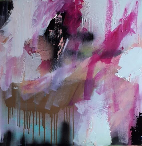 TABLEAU PEINTURE abstrait paysage abstrait céline marcoz art contemporain Paysages Acrylique  - Souvenir d'été