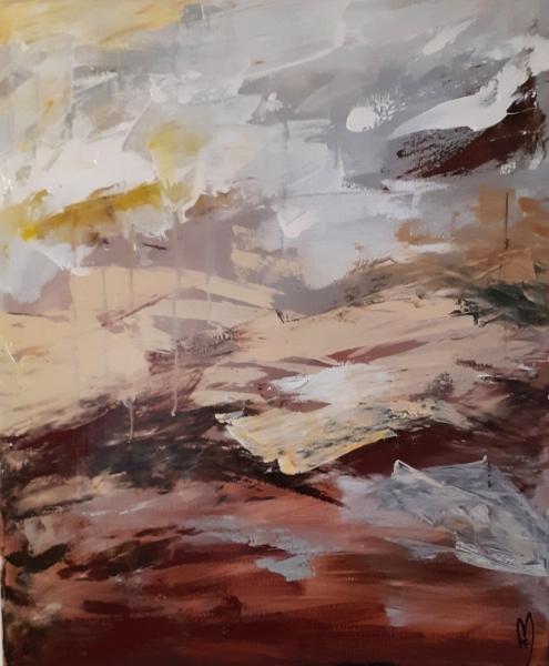 TABLEAU PEINTURE ciel nature art abstrait céline marcoz Abstrait Acrylique  - Solitude