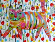 dessin animaux chat chat dessin chat peinture animal art : Chat