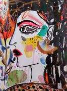 dessin personnages femme profil portrait celine marcoz : Femme Profil