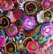 tableau fleurs fleurs jardin celine marcoz : Fleurs