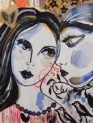 dessin personnages femmes portraits visages celine marcoz : Portraits Femmes