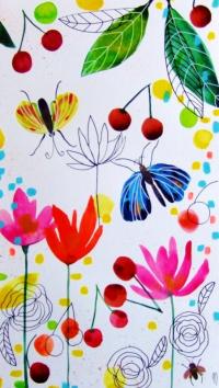 Cerises Papillons