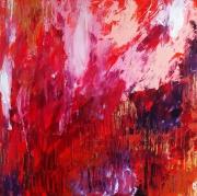 tableau abstrait abstrait celine marcoz rouge paysage : Emotions