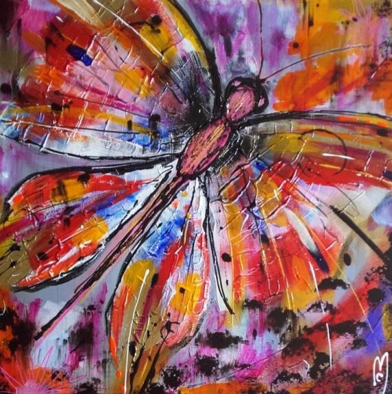 TABLEAU PEINTURE papillon nature céline marcoz Animaux Acrylique  - Papillon
